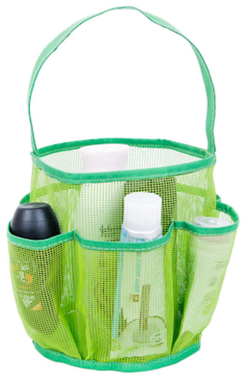 Органайзер для ванной HomeMaster, цвет: зеленый держатели для ванной homemaster держатель для ванной комнаты