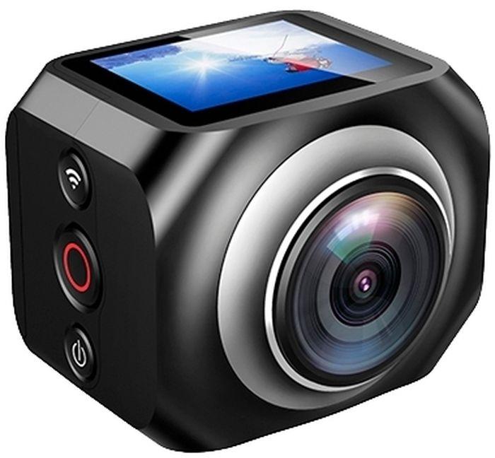 Eken H360R, Black экшн-камераH360R BLACKМаксимальное разрешение съемки 360-градусных видео составляет 1920 х 1080 при 25 кадр/сек. На верхней части корпуса камера оборудована информационным OLED дисплеем диагональю 1.5 дюйма. Встроенного аккумулятора объемом 1200 мАч достаточно для непрерывной работы камеры в течение полутора часов. Eken H360R совместима со смартфонами на Android и iOS, подключение осуществляется беспроводным способом по Wi-Fi. В комплект так же входит пульт ДУ при помощи которого вам будет удобно пользоваться функцией начала и окончания съемки.Как выбрать экшн-камеру. Статья OZON Гид