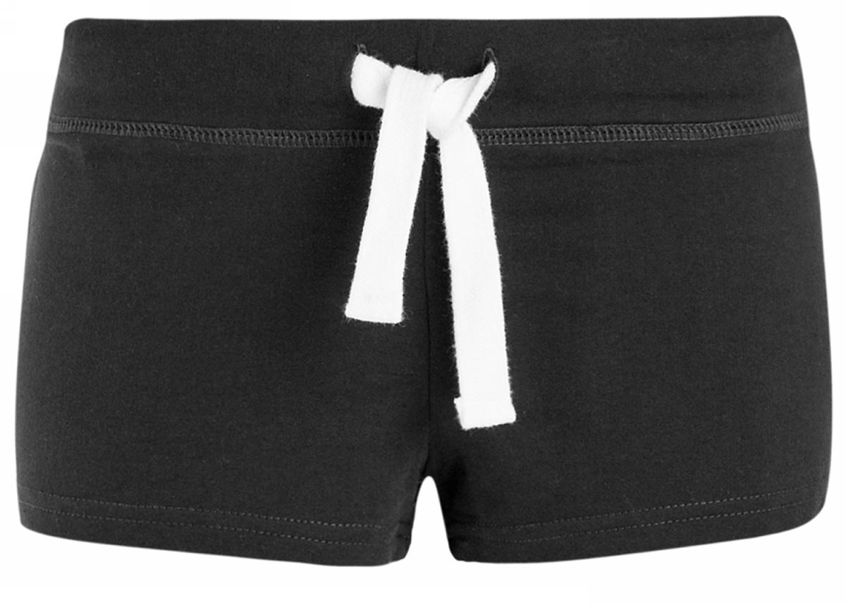 Шорты женские oodji Ultra, цвет: черный. 17001029-4B/46155/2900N. Размер XL (50)