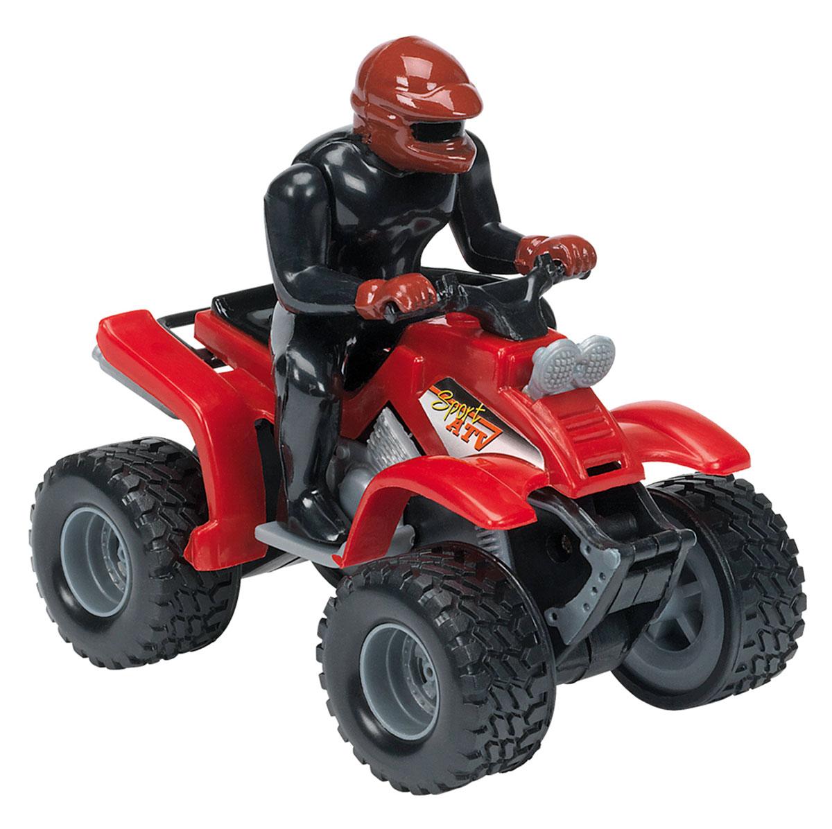 Dickie Toys Квадроцикл инерционный цвет красный dickie toys dickie toys гараж с машинками