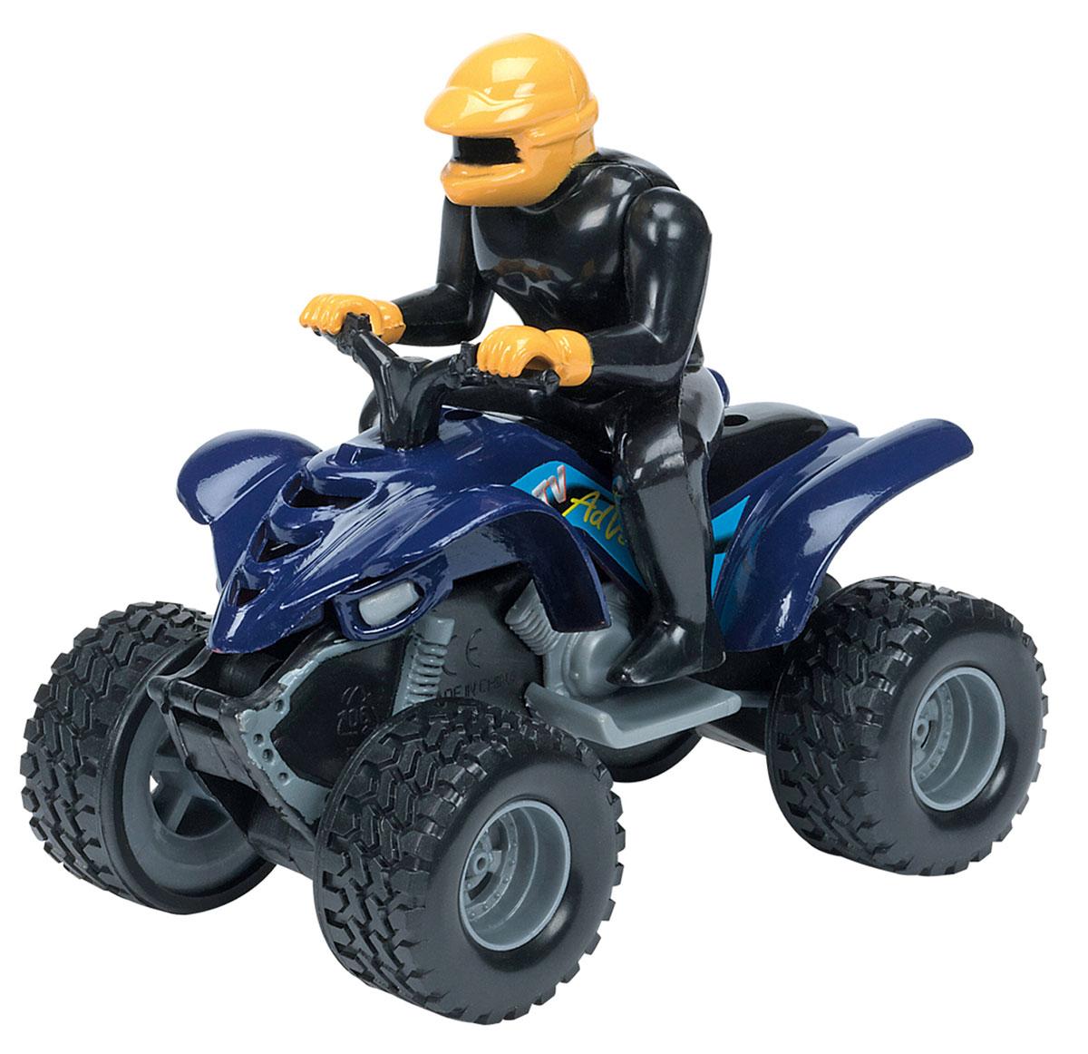 Dickie Toys Квадроцикл инерционный цвет синий машины tolo toys сафари квадроцикл