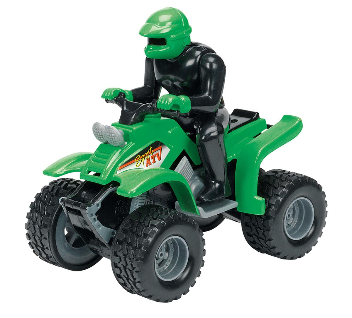 Dickie Toys Квадроцикл инерционный цвет зеленый машины tolo toys сафари квадроцикл
