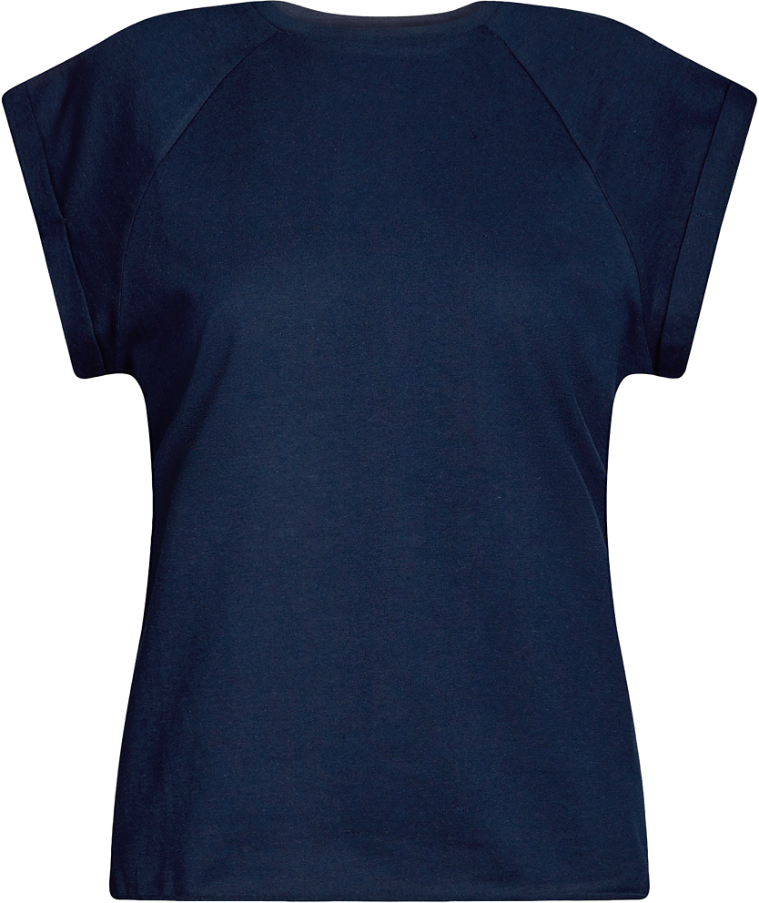 Футболка женская oodji Ultra, цвет: темно-синий. 14707001B/46154/7900N. Размер M (46)14707001B/46154/7900NБазовая футболка свободного кроя с круглым вырезом горловины и короткими рукавами-реглан выполнена из натурального хлопка.