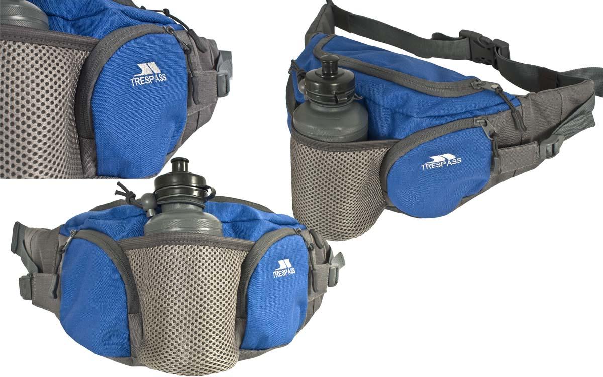 Сумка поясная Trespass Vasp, с бутылкой 0,75 млUUACBAF20003Сумка на пояс Trespass Vasp - это удачный выбор для спортсменов и любителей пеших походов. Модель комплектуется пластиковой бутылочкой емкостью 75 мл. Поясной ремешок сумки регулируется по размеру. Сумка дополнена несколькими практичными карманами.