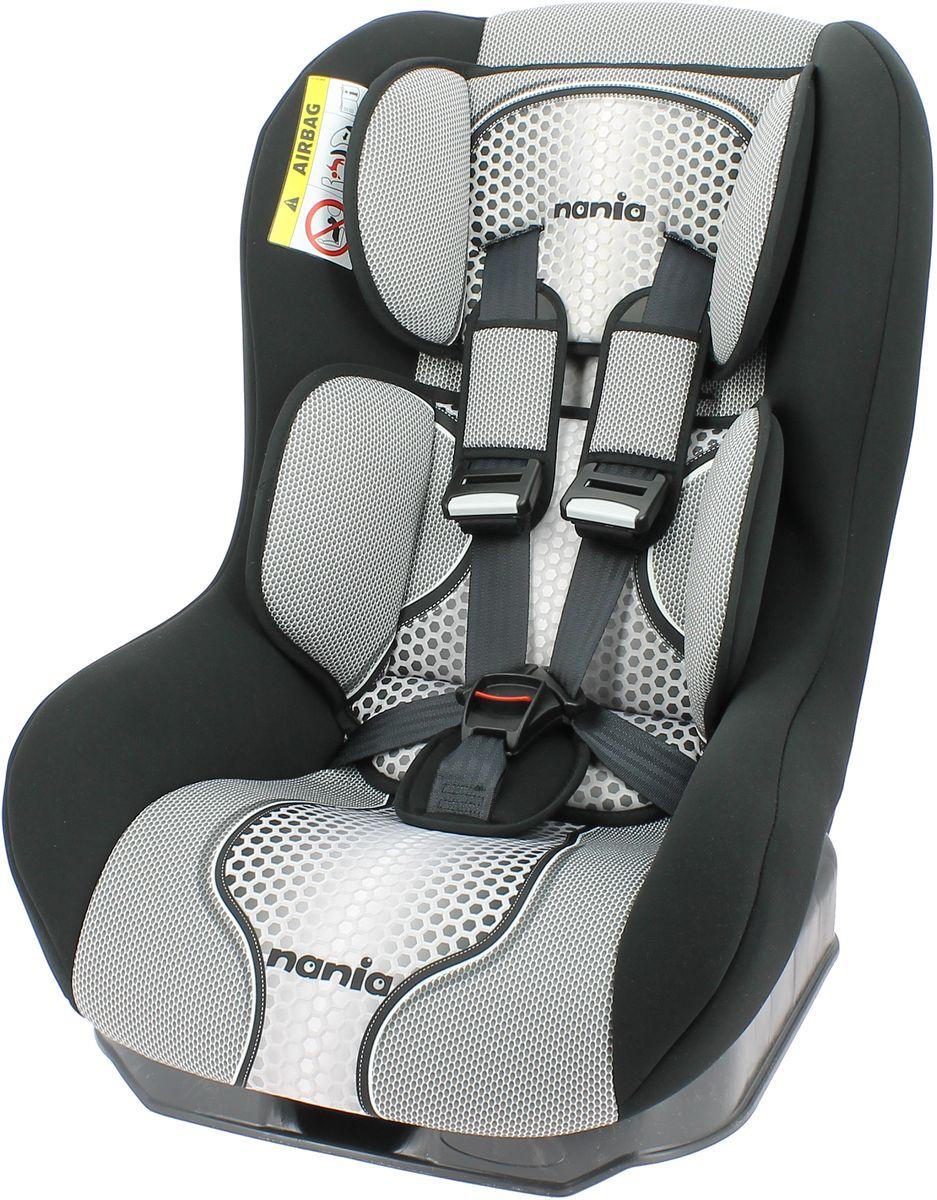 Nania Автокресло Driver FST от 0 до 18 кг цвет черный серый046901Автокресло Nania Driver FST относится к группе 0/1, подходит для детей от рождения до примерно 4-х лет (0-18 кг). Соответствует стандарту ECE R44/04.Nania Driver FST регулируется в различных положениях? от вертикально сидячего до полулежа, имеет мягкую приятную на ощупь обивку из техно-ткани и 5-точечный ремень безопасности, который очень деликатно и плотно фиксирует маленького пассажира. Автокресло легко устанавливается в автомобиле благодаря простой системе крепления. Практичная подушка под голову обеспечивает оптимальный обхват головки ребенка в дальних поездках, поэтому Nania Driver FST отлично подходит для спящих в машине детей.Эргономичная форма автокресла и мягкий стеганный чехол обеспечит оптимальный комфорт для отдыха маленького пассажира.Все тканевые части легко снимаются и стираются.