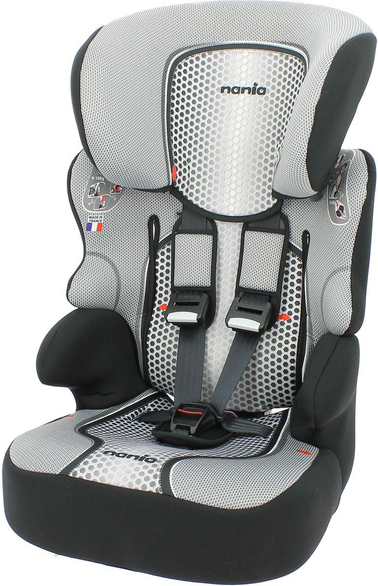 Nania Автокресло Beline SP FST от 9 до 36 кг цвет серый черный299901Автокресло Nania Beline SP относится к группе 1/2/3, от 8 месяцев до 12 лет (9-36 кг). Соответствует стандартам ECE R44/04. Серия FIRST - базовая версия автокресла Nania Beline SP, имеет принты на обивке. Автокресло гарантирует европейское качество и обеспечивает безопасность пассажира. Beline SP - это два кресла в одном. Оно охватывает все возрастные группы в возрасте от примерно 8 месяцев до 12 лет (когда ребенка в автомобиле уже можно перевозить без специального удерживающего устройства) благодаря регулируемому по высоте подголовнику. Когда ребенок подрастет, спинку автокресла можно отстегнуть и использовать только бустер. Автокресло Beline SP было разработано согласно самым жестким требованиям безопасности, а также учитывая ортопедические факторы: мягкая, приятная на ощупь обивка и анатомическая форма. Ваш ребенок будет чувствовать себя комфортно даже в дальних поездках. Широкий мягкий подголовник, спинка и подлокотники обеспечат дополнительный комфорт и безопасность маленького пассажира даже в случае бокового столкновения. Высоту подголовника можно регулировать по высоте, кресло растет вместе с вашим ребенком. Все тканевые части легко снимаются и стираются.
