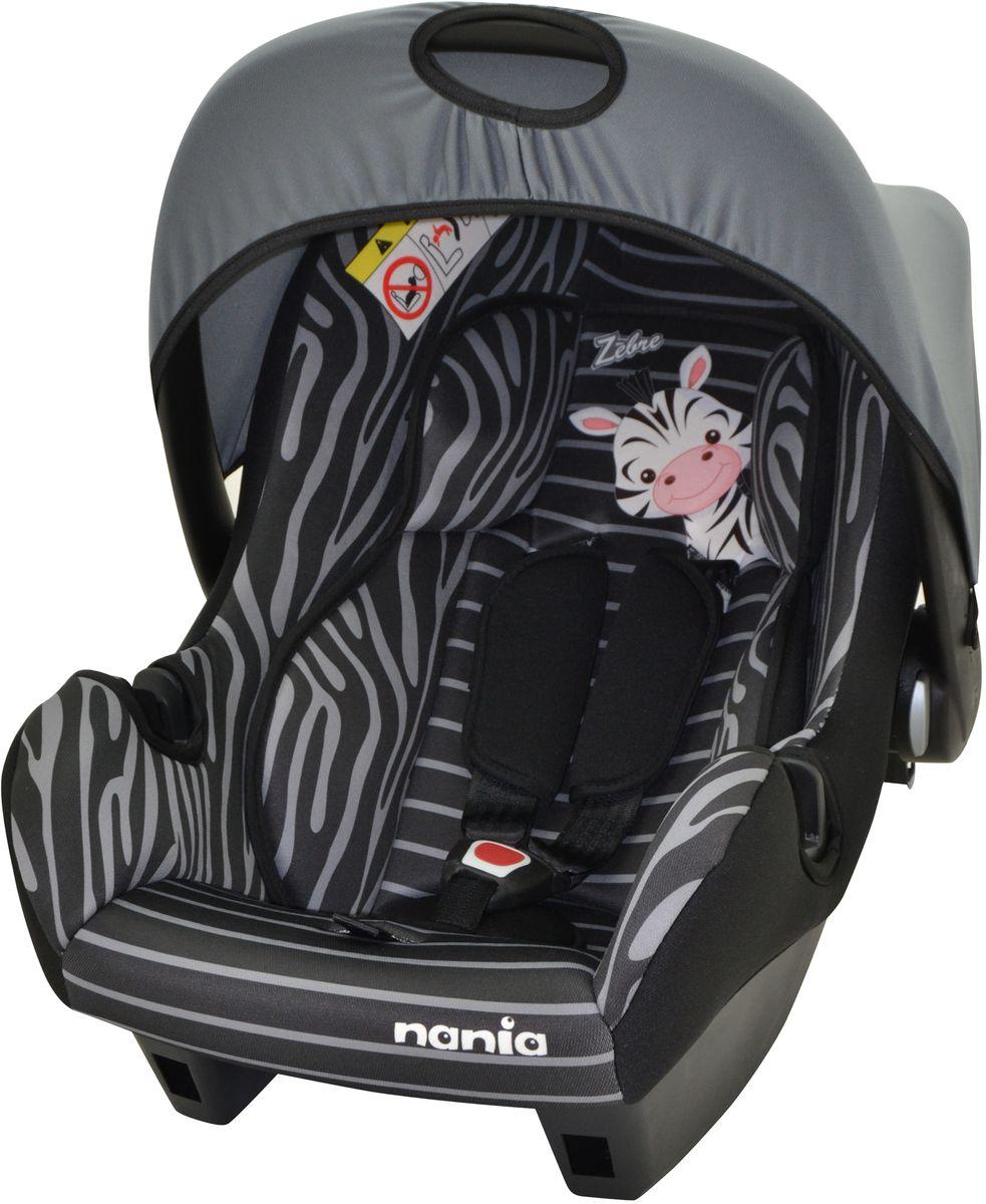 Nania Автокресло Beone SP Zebra от 0 до 13 кг483175Автокресло nania Beone SP. Zebra было разработано на основе требований безопасности, а также ортопедических факторов: мягкие обивка и подушки, а также анатомическая форма, учитывающая особенности новорожденного ребенка.Такое автокресло обеспечивает комфорт даже в дальних поездках. Система боковой защиты Side Protection (SP) обеспечивает необходимую безопасность даже при боковом столкновении. 3-точечные ремни безопасности можно регулировать по длине и высоте.Обивка выполнена из 100% полистирола, которую легко снимается и моется. Автокресло оформлено изображением забавной зебры.