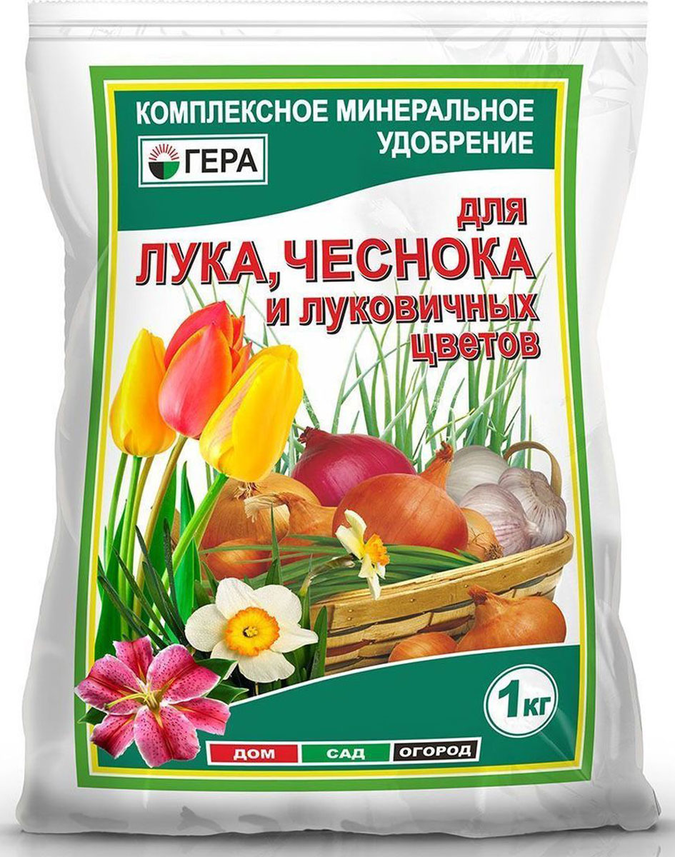 Удобрение Гера Для лука, чеснока и луковичных цветов, 1 кг2003Смешанное удобрение Гера Для лука, чеснока и луковичных цветов подходит для основного внесения и подкормки лука, чеснока, а также луковичных и клубнелуковичных цветов, таких как лилия, тюльпан, нарцисс, гладиолус, гиппеаструм, фрезия, гиацинт, сцилла, крокус и других луковичных культур.Содержит полный сбалансированный набор элементов питания, необходимых для нормального роста и развития растений. Увеличивает рост наземной и корневой части растений, повышает устойчивость растений к неблагоприятным воздействиям окружающей среды, болезням и вредителям. Способствует ускорению созревания и улучшению качества урожая, повышению содержания сахаров и витаминов. Стимулирует длительное и пышное цветение, улучшает декоративные свойства цветочных культур.Товар сертифицирован.
