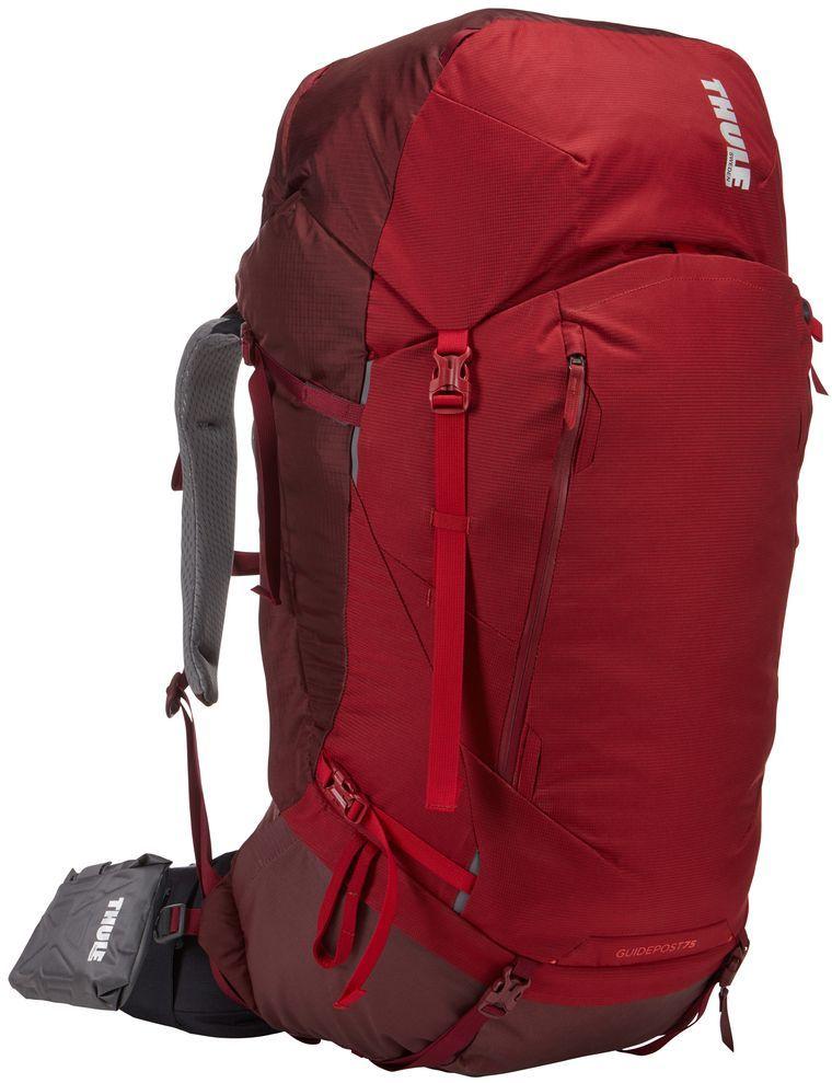 Рюкзак туристический женский Thule Guidepost, цвет: бордовый, 75 л222103Туристический женский рюкзак Thule Guidepost идеально подходит для недельных походов. Рюкзак отличается настраиваемой системой крепления TransHub, обеспечивающей идеальную посадку, поворачивающимся набедренным ремнем, который позволяет рюкзаку повторять ваши движения, и крышкой, способной трансформироваться в дополнительный рюкзак, который поможет вам покорить любую вершину.Особенности:- Лямки с шагом 15 см легко регулируются для идеальной посадки рюкзака, а наплечные ремни QuickFit имеют три варианта длины.- Система крепления Transhub и усиленный поясной ремень помогают максимально перенести вес рюкзака на бедра, обеспечивая более удобную посадку .- За счет поворотного поясного ремня рюкзак повторяет ваши движения, обеспечивая более естественную ходьбу.- Съемный верхний клапан трансформируется в отдельный просторный рюкзак объемом 28 л.- Съемный всепогодный сворачивающийся карман VersaClick защищает снаряжение от непогоды.- Регулируемый поясной ремень совместим со взаимозаменяемыми аксессуарами VersaClick (приобретаются отдельно).- Яркий съемный дождевой чехол поможет сохранить вещи сухими во время проливного дождя. - Разместив внешний аккумулятор в отделении PowerPocket, можно на ходу заряжать мобильное устройство в кармане поясного ремня. - Удобный доступ к содержимому рюкзака благодаря большой J-образной застежке на молнии на боковой панели.- Дышащая задняя панель способствует лучшей циркуляции воздуха, а мягкая опора обеспечивает поддержку в главных точках соприкосновения.