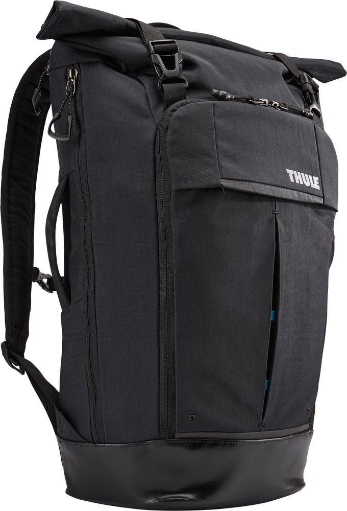 Рюкзак городской Thule Paramount Rolltop, цвет: черный, 24 л3202035Рюкзак Thule Paramount Rolltop - это прочный городской рюкзак со сворачивающейся верхней частью превосходно защищает электронику. Он имеет несколько молний, чтобы любую вещь можно было достать прямо на ходу.Особенности:- Плотный карман для ноутбука специальной формы SafeEdge и клапаном на застежке защитит углы устройства.- Защитный накладной карман с мягкой подкладкой для планшета.- Доступ к ноутбуку и планшету из основного отделения или через боковую молнию.- Вставки со сварными швами в нижней части рюкзака защищают содержимое от влаги и грязи.- Карман с мягкой подкладкой для ценных вещей, например очков или телефона.- Перфорированные лямки с мягкой подкладкой и спинка с вентиляционными отверстиями создают ощущение комфорта при носке.- Прочный нейлон с водостойким покрытием.- Сворачивающееся отделение позволяет регулировать объем рюкзака, а несколько молний обеспечивают удобный доступ к содержимому.- Небольшие аксессуары удобно хранить в многочисленных кармашках, а ключи - в специальном футляре.- Встроенная система крепления для карабина или велосипедного фонаря.- Удобные язычки на молниях.- Чтобы бутылка с водой всегда была поблизости, храните ее в боковом кармане.- Нагрудный ремень обеспечивает дополнительную фиксацию тяжелых грузов.- Яркие детали внутренней отделки помогут легко найти аксессуары.