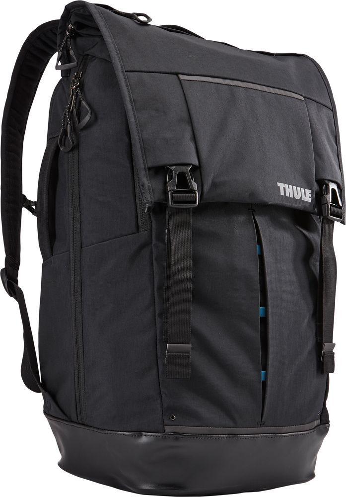 Рюкзак городской Thule Paramount Flapover, цвет: черный, 29 л3202036Рюкзак Thule Paramount Flapover - это прочный рюкзак для города с клапаном на застежках, он превосходно защищает электронику и обеспечивает удобный доступ к содержимому.Особенности:- Плотный карман для ноутбука специальной формы SafeEdge и клапаном на застежке защитит углы устройства;- Защитный накладной карман с мягкой подкладкой для планшета;- Доступ к ноутбуку и планшету из основного отделения или через боковую молнию;- Вставки со сварными швами в нижней части рюкзака защищают содержимое от влаги и грязи;- Карман с мягкой подкладкой для ценных вещей, например очков или телефона;- Перфорированные лямки с мягкой подкладкой и спинка с вентиляционными отверстиями создают ощущение комфорта при носке;- Прочный нейлон с водостойким покрытием;- Небольшие аксессуары удобно хранить в многочисленных кармашках, а ключи - в специальном футляре;- Встроенная система крепления для карабина или велосипедного фонаря;- Удобные язычки на молниях;- Чтобы бутылка с водой всегда была поблизости, храните ее в боковом кармане;- Нагрудный ремень обеспечивает дополнительную фиксацию тяжелых грузов;- Яркие детали внутренней отделки помогут легко найти аксессуары.