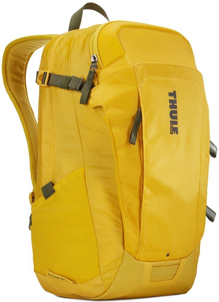 Рюкзак городской Thule EnRoute Triumph, цвет: горчичный, 21 л3203385Рюкзак объемом 21 л с конструкцией SafeEdge для защиты ноутбука и отделениями для хранения самых необходимых повседневных вещей.