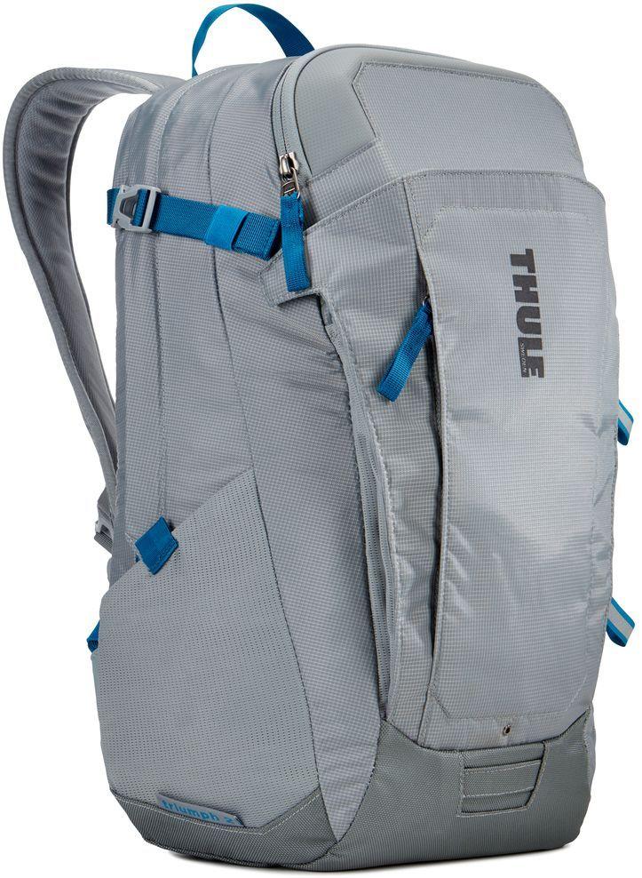 Рюкзак городской Thule EnRoute Triumph, цвет: светло-серый, 21 л3203387Городской рюкзак Thule EnRoute Triumph - это удобный рюкзак объемом 21 л с конструкцией SafeEdge для защиты ноутбука и отделениями для хранения самых необходимых повседневных вещей.Особенности:- Вмещает MacBook Pro с диагональю экрана 15 или ноутбук с диагональю экрана 14 и дополнительно планшет;- Чехол для ноутбука с конструкцией SafeEdge для защиты углов устройства и дополнительный накладной карман для планшета; - Ударопрочное отделение SafeZone для солнечных очков, смартфона и других хрупких предметов;- Карман с регулируемым размером обеспечивает быстрый доступ к хранящимся в нем вещам; - В отделении для ноутбука также можно хранить питьевую систему (в комплект не входит); - Карманы на переднем клапане, обеспечивающие быстрый доступ; - Потайные крепления со светоотражающими деталями; - Панель-органайзер обеспечит надежное хранение и быстрый поиск мелких предметов;- Выемки для вентиляции на задней стороне обеспечивают циркуляцию воздуха; - Мягкие ремни рюкзака с нагрудным ремнем обеспечивают максимальный комфорт. Размер: 31 x 29 x 44 см.
