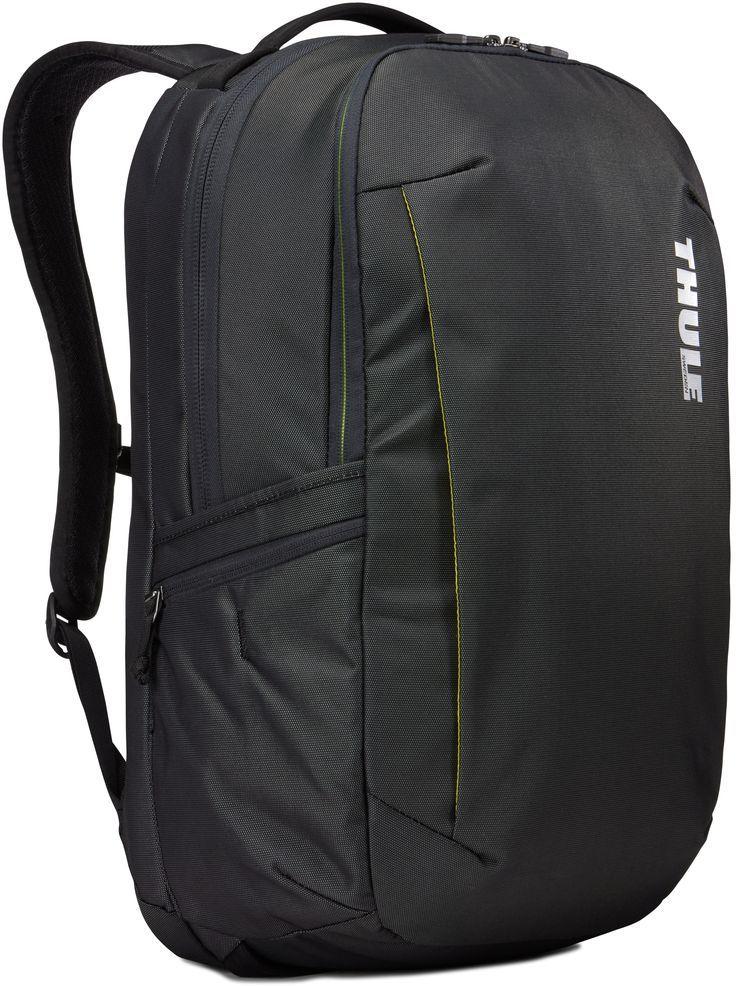 Рюкзак городской Thule Subterra Backpack, цвет: темно-серый, 30 л3203417Вместительный и прочный дорожный рюкзак с функцией защиты электроники и отделением PowerPocket для упорядоченного хранения шнуров и зарядных устройств. Отделение с мягкой подкладкой и конструкцией SafeEdge для ноутбука (MacBook Pro с диагональю экрана 15 дюймов или ПК с диагональю экрана 15,6 дюйма). Специальный защитный карман с мягкой подкладкой для планшета. От внешнего аккумулятора во внутреннем отделении PowerPocket удобно заряжать различные устройства. Доступ к ноутбуку из верхнего отделения или через боковую молнию. Перфорированные наплечные ремни EVA с сетчатым покрытием и мягкой задней подушкой, пропускающие воздух, обеспечивают комфорт. Съемный регулируемый нагрудный ремень фиксирует наплечные ремни рюкзака и делает транспортировку более комфортной. Специальная панель для надежного крепления к дорожным сумкам на колесах помогает путешествовать с удобством. Внутренний карман с мягкой подкладкой для ценных вещей, например очков или телефона. Удобные отделения-органайзеры упрощают размещение мелких предметов. В растягивающемся боковом кармане на молнии безопасно хранятся небольшие предметы и помещается бутылка воды.