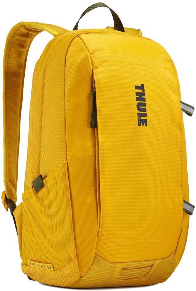 Рюкзак городской Thule EnRoute Daypack, цвет: горчичный, 13 л3203429Рюкзак Thule EnRoute Daypackвместительностью 18 л оснащен защитой для ноутбуков SafeEdge. Он отлично подходит как для повседневных поездок, так и для походов выходного дня.Отделение с мягкой подкладкой и конструкцией SafeEdge для ноутбука (MacBook Pro® с диагональю экрана 15 дюймов или ПК с диагональю экрана 14 дюймов) Защитный карман с мягкой подкладкой для планшета Отделение SafeZone с жесткими краями и мягкой подкладкой для ценных вещей, например очков или телефона Быстрый доступ к небольшим предметам через передний карман Потайные петли со светоотражающими деталями Внутренний карман на молнии для небольших предметов Воздухопроницаемая задняя панель обеспечивает комфорт при переноске Точка крепления проблескового фонаря для дополнительной безопасности при передвижении В растягивающийся сетчатый боковой карман удобно ставить бутылку водыРазмеры : 27 x 23 x 44 см
