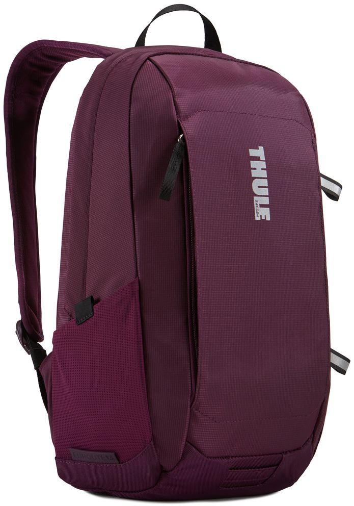 Рюкзак городской Thule EnRoute Daypack, цвет: спелая вишня, 13 л3203431Рюкзак Thule EnRoute Daypack вместительностью 13 л оснащен защитой для ноутбуков SafeEdge. Он отлично подходит как для повседневных поездок, так и для походов выходного дня. Отделение с мягкой подкладкой и конструкцией SafeEdge для ноутбука (MacBook Pro® с диагональю экрана 15 дюймов или ПК с диагональю экрана 14 дюймов).Защитный карман с мягкой подкладкой для планшета . Отделение SafeZone с жесткими краями и мягкой подкладкой для ценных вещей, например очков или телефона . Быстрый доступ к небольшим предметам через передний карман . Потайные петли со светоотражающими деталями.Внутренний карман на молнии для небольших предметов . Воздухопроницаемая задняя панель обеспечивает комфорт при переноске . Точка крепления проблескового фонаря для дополнительной безопасности при передвижении . В растягивающийся сетчатый боковой карман удобно ставить бутылку воды.Размеры: 27 x 23 x 44 см