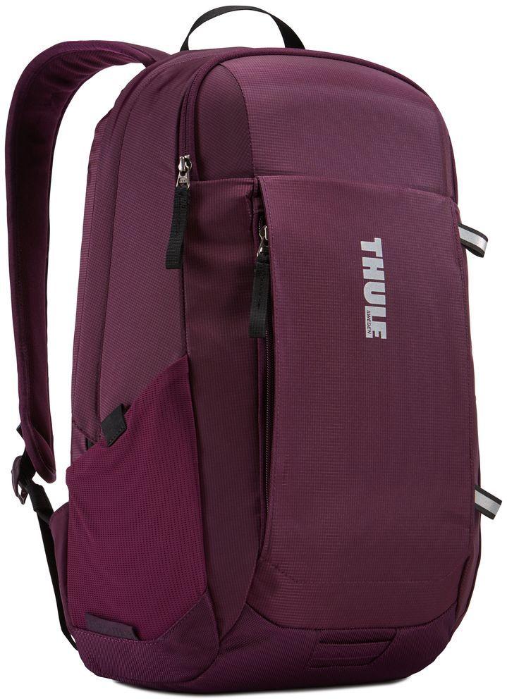 Рюкзак городской Thule EnRoute Daypack, цвет: спелая вишня, 18 л3203435Рюкзак Thule EnRoute Daypackвместительностью 18 л оснащен защитой для ноутбуков SafeEdge. Он отлично подходит как для повседневных поездок, так и для походов выходного дня. Отделение с мягкой подкладкой и конструкцией SafeEdge для ноутбука (MacBook Pro® с диагональю экрана 15 дюймов или ПК с диагональю экрана 14 дюймов).Защитный карман с мягкой подкладкой для планшета . Отделение SafeZone с жесткими краями и мягкой подкладкой для ценных вещей, например очков или телефона . Быстрый доступ к небольшим предметам через передний карман . Потайные петли со светоотражающими деталями.Внутренний карман на молнии для небольших предметов . Воздухопроницаемая задняя панель обеспечивает комфорт при переноске . Точка крепления проблескового фонаря для дополнительной безопасности при передвижении . В растягивающийся сетчатый боковой карман удобно ставить бутылку воды. Размеры : 27 x 23 x 44 см