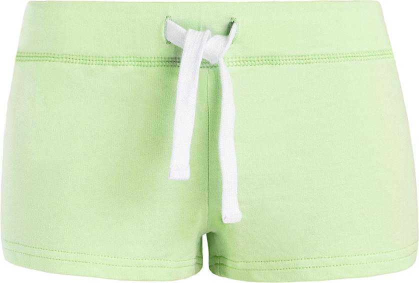 Шорты женские oodji Ultra, цвет: зеленый. 17001029-4B/46155/6A00N. Размер S (44)17001029-4B/46155/6A00NСтильные женские шорты oodji Ultra изготовлены из натурального хлопка.Шорты стандартной посадки имеют эластичный пояс на талии, дополненный шнурком.