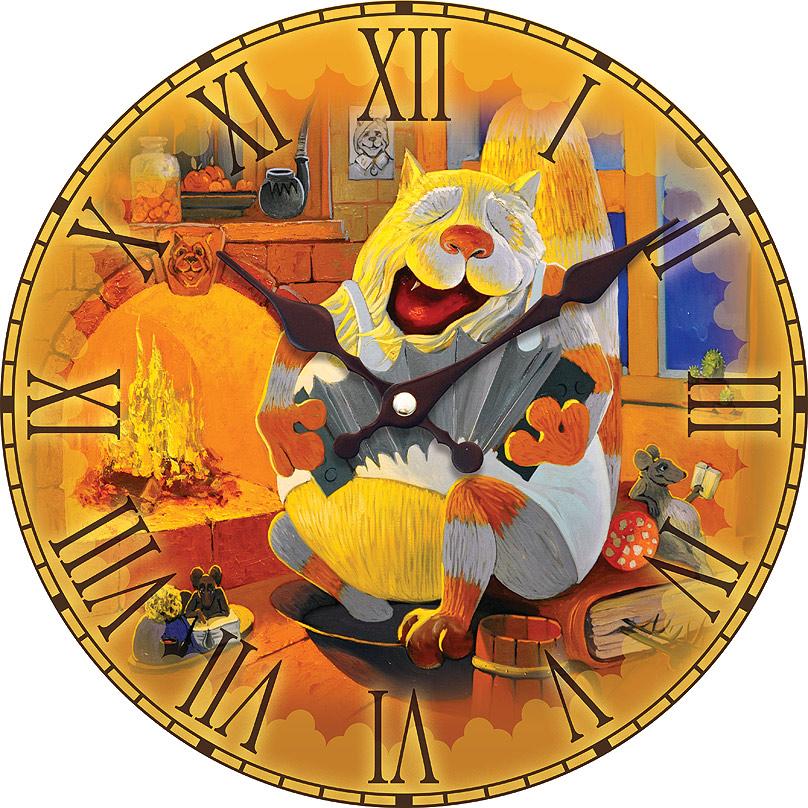 Часы настенные Белоснежка Василич, диаметр 34 см008-CLЧасы настенные Белоснежка станут изюминкой в дизайне интерьера вашего дома. Открытый циферблат выполнен из листа оргалита с декоративным покрытием. Часы имеют две стрелки – часовую и минутную. Часовой механизм сзади закрыт пластиковым корпусом. Предусмотрено отверстие для крепления на стену.Питание от одной батарейки стандарта АА (в комплект не входит). Диаметр часов: 34 см.