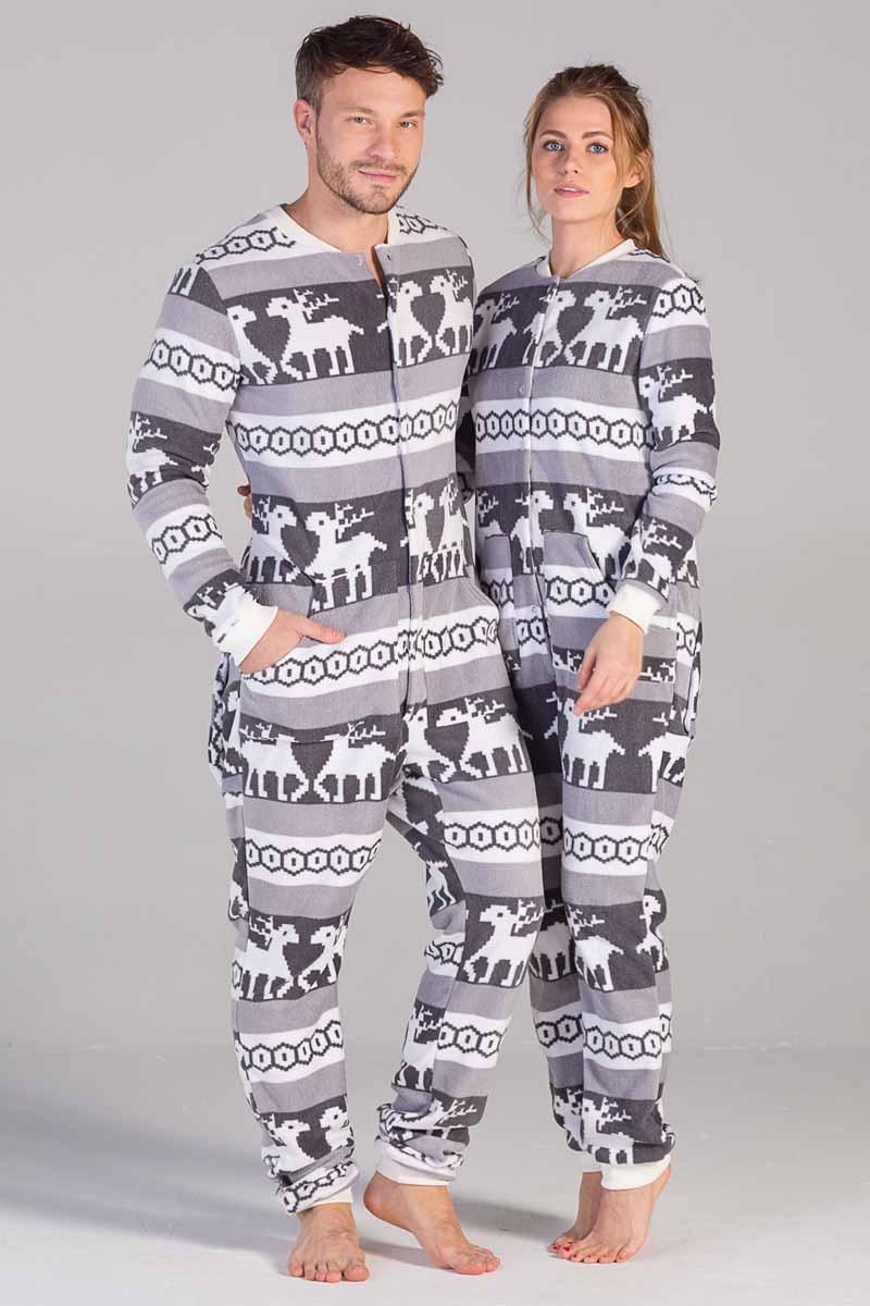 Пижама Футужама Скандинавские узоры, цвет: серый, белый. 100903. Размер L (50)