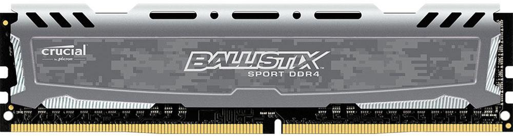 Crucial Ballistix Sport LT DDR4 8GB 2400МГц, Grey модуль оперативной памятиBLS8G4D240FSBМодуль оперативной памяти Crucial Ballistix Sport LT типа DDR4 обеспечивает увеличенную рабочую частоту (по сравнению с предыдущем поколением) при сниженном тепловыделении и экономном энергопотреблении. Благодаря низкому напряжению (1,2 В), снижается потребление энергии, что обеспечивает отсутствие нагрева и бесшумную работу ПК. Теплоотвод выполнен из чистого алюминия, что ускоряет рассеяние тепла.Объем памяти 8 ГБ позволит свободно работать со стандартными, офисными и профессиональными ресурсоемкими программами, а также современными требовательными играми. Работа осуществляется при тактовой частоте 2400 МГц и пропускной способности, достигающей до 19200 Мб/с, что гарантирует качественную синхронизацию и быструю передачу данных, а также возможность выполнения множества действий в единицу времени. Параметры тайминга 16-16-16 гарантируют быструю работу системы. Имеется поддержка XMP 2.0 для удобного разгона в автоматическом режиме.