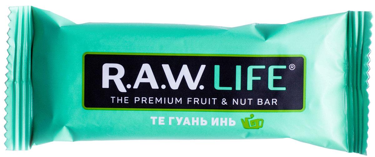 R.A.W.LIFE Те Гуань Инь орехово-фруктовый батончик, 47 г