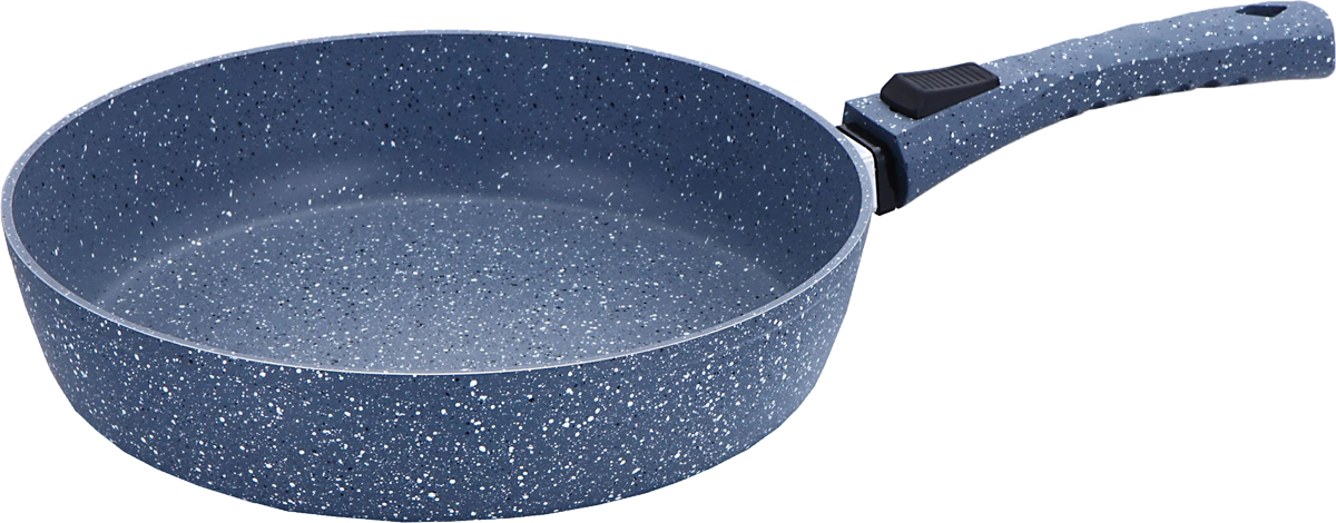 Сковорода Bekker Grey Marble, со съемной ручкой, с антипригарным мраморным покрытием. Диаметр 26 смBK-3790Диаметр 26 см. Внутри мраморное антипригарное серое покрытие, снаружи жаропрочное мраморное серое покрытие. Бакелитовая съемная ручка Soft Touch. Толщина стенки 2,5 мм, дна 3,5 мм, высота 5,8 см. Подходит для индукционных плит и чистки в посудомоечной машине. Состав: кованый алюминий.