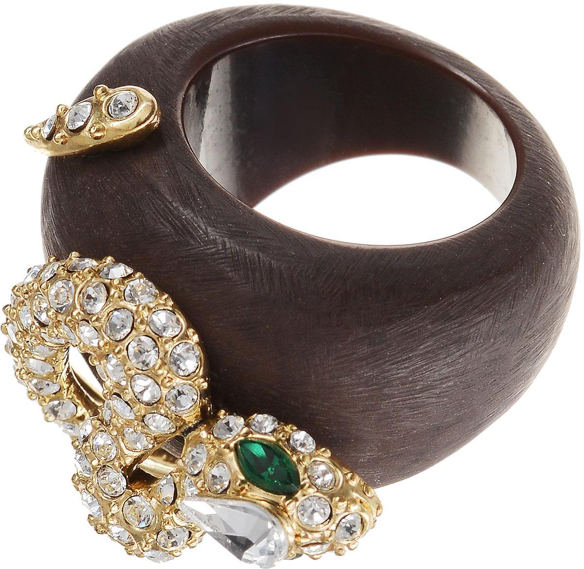 Кольцо Art-Silver, цвет: коричневый. М456-500. Размер 17,5