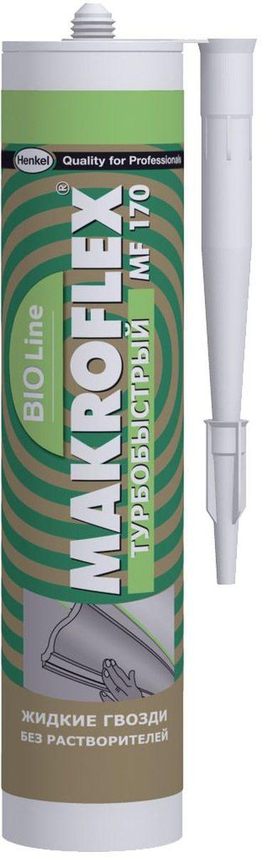 Клей Makroflex BioLine MF170, турбобыстрый, 400 г1739814Клей Makroflex BioLine MF170используется для внутреннего и наружного применения;для крепления любых видов панелей из стиопора, пластика и др. материалов, в т.ч. потолочных, для крепления плинтусов. Одна из склеиваемых поверхностей должна быть пористой (впитывать воду).