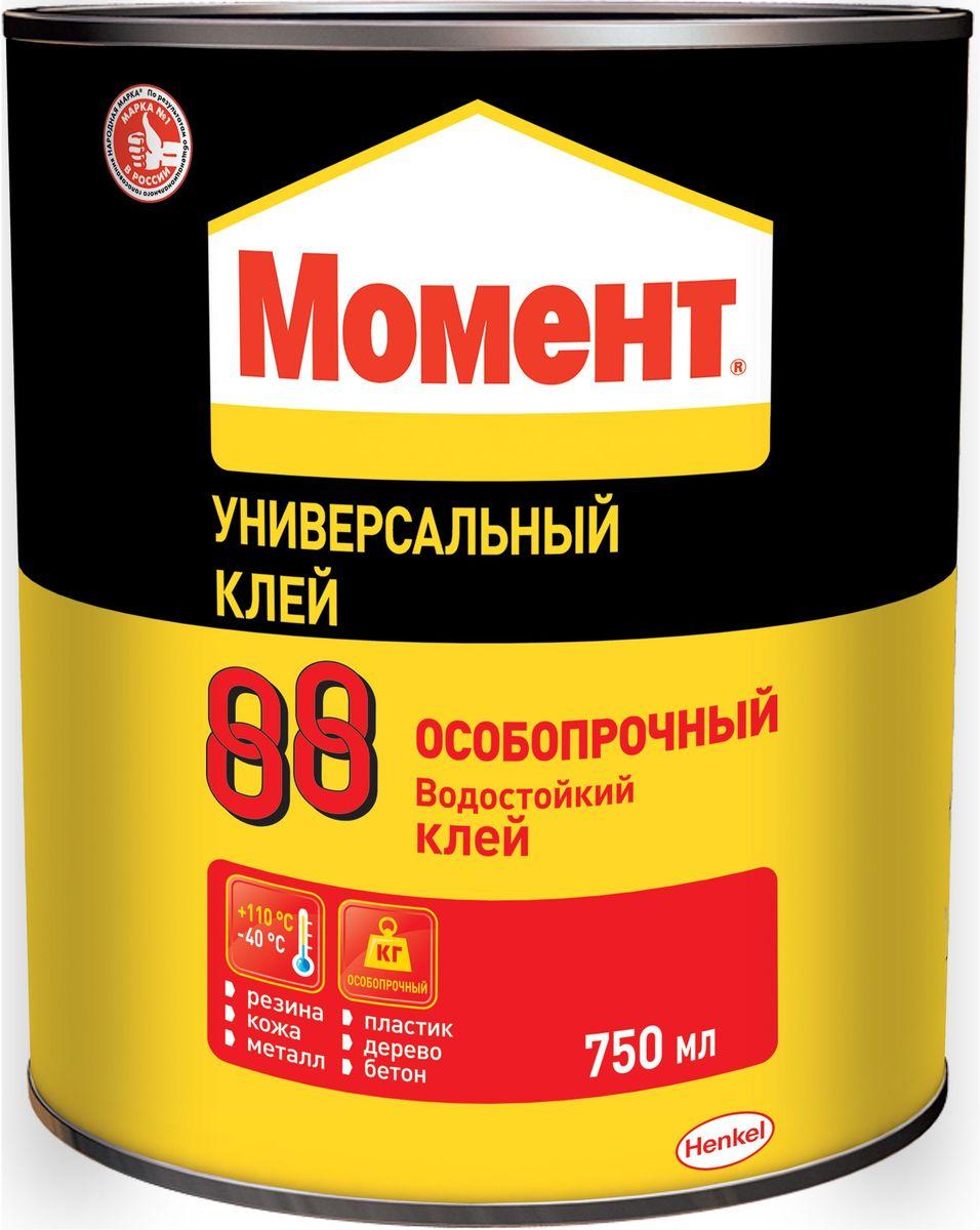 Клей Момент 88, 750 мл1777022Надежный клей момент 88 предназначен для склеивания резины, кожи, металлов, полистирола, оргстекла и других пластиков, пробки, стекла, керамики, бетона. Не подходит для склеивания посуды, контактирующей с пищей, стиропора®, полиэтилена и полипропилена.