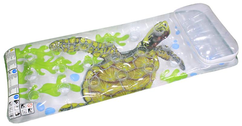 Надувной матрас-бар Intex Черепаха, 18 лунок, 188 х 71 см. с58878с58878Надувной матрас-бар Intex Черепаха - это замечательный аксессуар для бассейна, при помощи которого можно расслабиться и позагорать на солнце, плавно покачиваясь на воде. У матраса предусмотрен специальный надувной подголовник, делающий пребывание на плоту еще более комфортным. Удобные лунки можно использовать как подстаканники.Надувной матрас от торговой компании Intex изготовлен из прочного многослойного винила, он сохраняет форму и не проседает, надежно удерживая человека на поверхности воды.Размер матраса: 188 х 71 см.