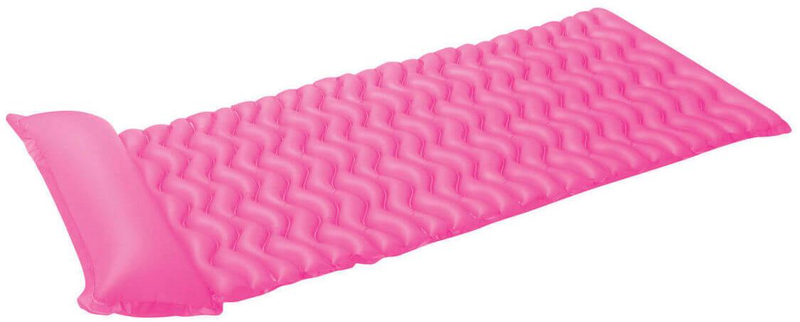Надувной матрас Intex Тот-Н-Флот, цвет: розовый, 229 х 86 см. с58807с58807Размер: 229х86 смНасос: даВес: 1,293 кгМатериал: ПВХ пленка