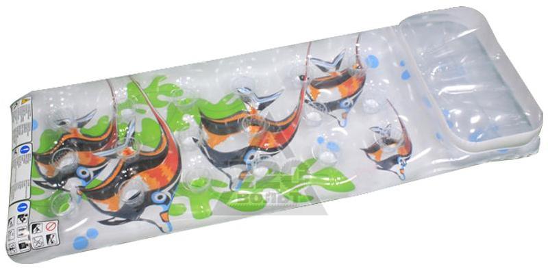 Надувной матрас-бар Intex Рыбки, 18 лунок, 188 х 71 см. с58878с58878надувной матрас.-бар прозр.(18 лунок) 188х71см 2цв.