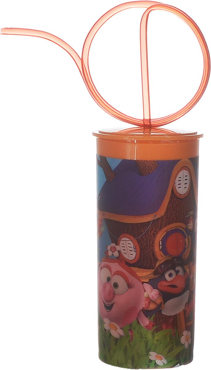 Смешарики Стакан детский с крышкой и трубочкой 330 мл1495015Детский стакан Смешарики непременно станет любимым стаканчиком малыша. Стакан выполнен из прочного безопасного полипропилена и оформлен изображением героев мультсериала Смешарики. Благодаря безопасному материалу, стакан подойдет для любых напитков. Стакан имеет съемную крышку, оснащенную отверстием для оригинальной витой трубочки для питья.Объем стакана: 330 мл.Не подходит для использования в посудомоечной машине и СВЧ-печи.
