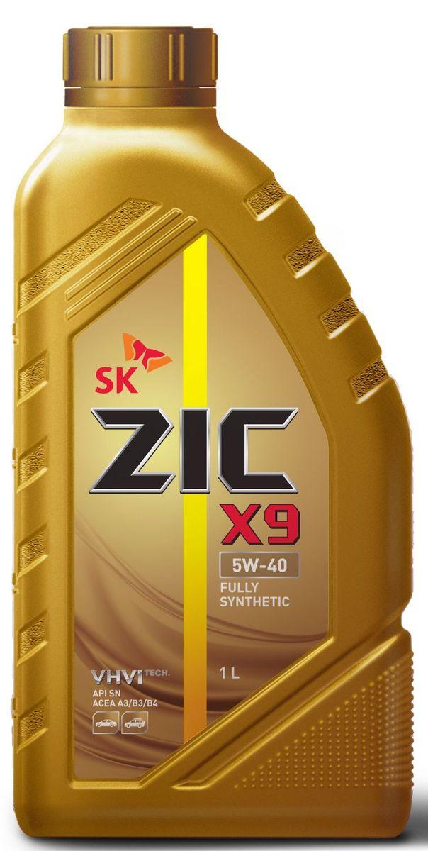 Масло моторное ZIC X9, синтетическое, класс вязкости 5W-40, API SN/CF, 1 л. 132613 моторное масло eneos ecostage 0w20 sn 4л синт