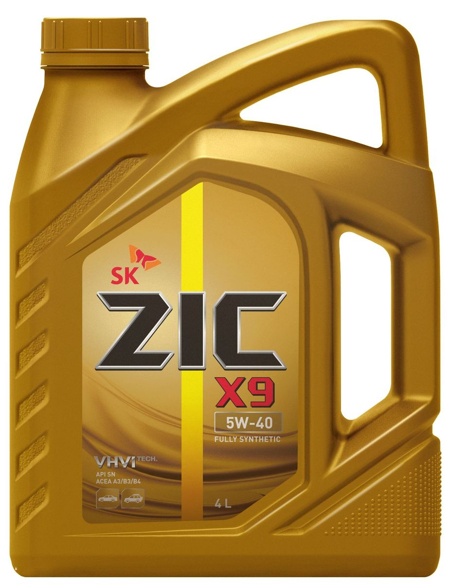 Масло моторное ZIC X9, синтетическое, класс вязкости 5W-40, API SN/CF, 4 л. 162613 моторное масло eneos ecostage 0w20 sn 4л синт