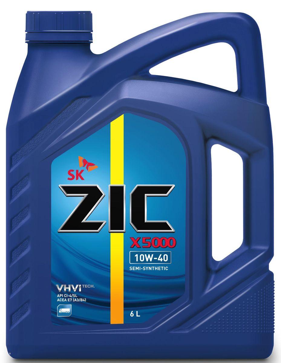Масло моторное ZIC X5000, полусинтетическое, класс вязкости 10W-40, 6 л. 172658172658Всесезонное высококачественное полусинтетическое моторное масло ZIC X5000 предназначено для дизельных двигателей всех типов. Изготовлено на основе базового масла Yubase и сбалансированного пакета современных присадок. Плотность при 15°C: 0,8507 г/см3.Температура вспышки: 240°С. Температура застывания: -37,5°С.Индекс вязкости: 166.