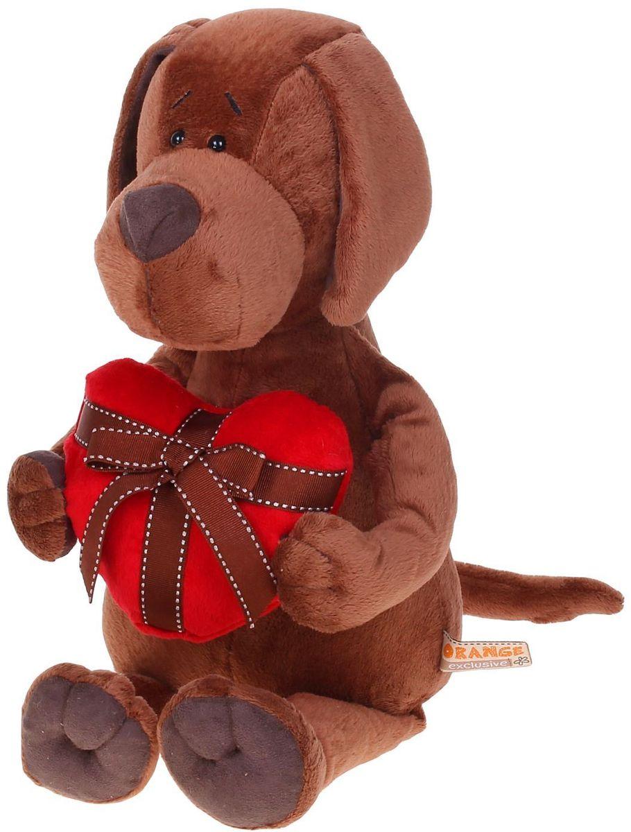 Orange Toys Мягкая игрушка Пес Барбоська с сердцем 30 см 1075929, Сима-ленд, Мягкие игрушки  - купить со скидкой