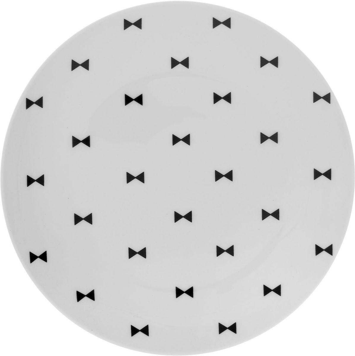 Тарелка мелкая Сотвори чудо Бантик Sans Brides, диаметр 20 см. 1563641 тарелка мелкая сотвори чудо полярный мишка диаметр 20 см