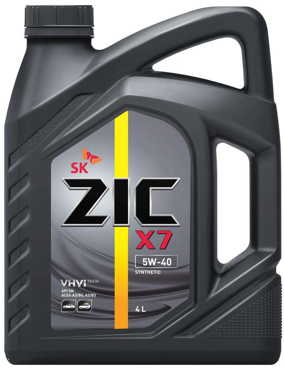 Масло моторное ZIC X7, синтетическое, класс вязкости 5W-40, API SN, 4 л. 162662162662ZIC X7 - всесезонное синтетическое моторное масло премиум-класса, изготовленное на основе базового масла высочайшего качества YUBASE и сбалансированного пакета современных присадок. Синтетическая основа и комплекс специальных присадок гарантируют дополнительный ресурс эксплуатационных характеристик, что позволяет увеличивать интервал замены масла в случае наличия рекомендации производителя автомобиля. Плотность при 15°C: 0,8513 г/см3.Температура вспышки: 222°С. Температура застывания: -42,5°С.Индекс вязкости: 173.