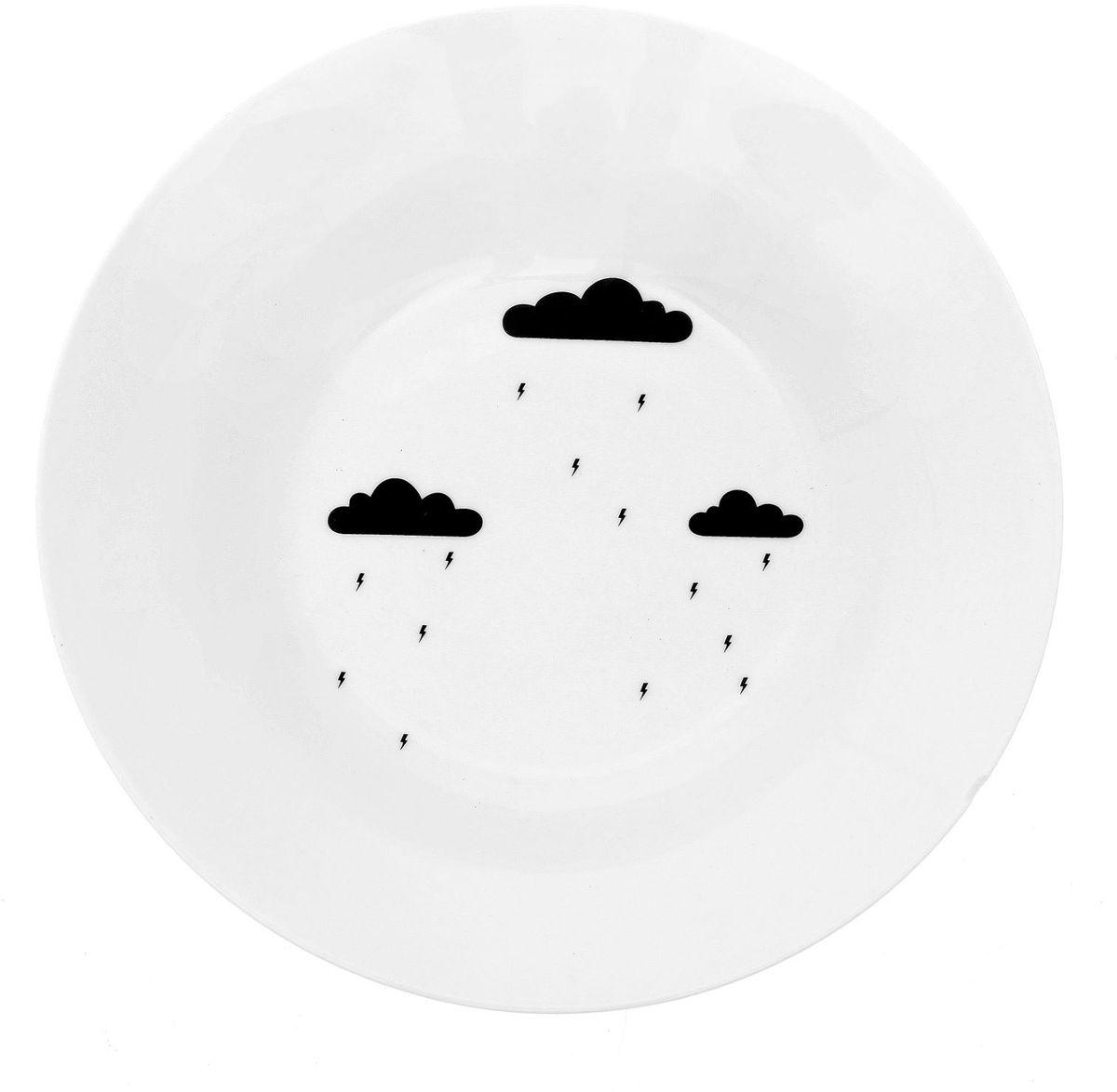 Тарелка глубокая Сотвори чудо Грозовая тучка, диаметр 20 см1661805Хотите обновить интерьер кухни или гостиной? Устраиваете необычную фотосессию или тематический праздник? А может, просто ищете подарок для близкого человека? Посуда Сотвори Чудо — правильный выбор в любой ситуации. Тарелка Сотвори Чудо, изготовленная из изящного фаянса нежного сливочного цвета, оформлена оригинальным рисунком со стойкой краской. Пригодна для посудомоечной машины.