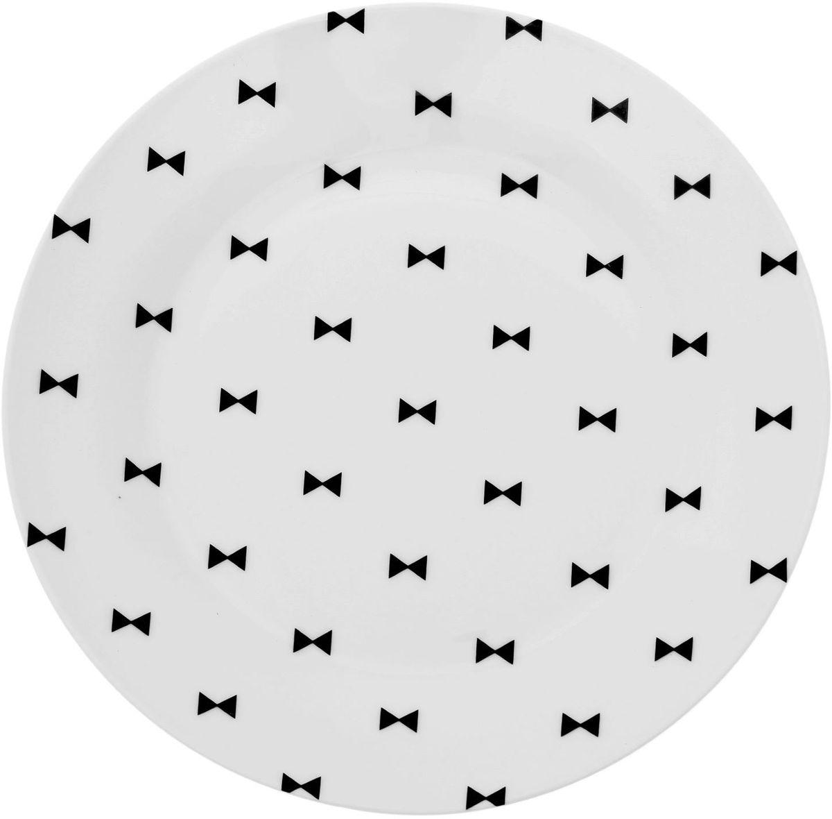 Тарелка Сотвори чудо Бантик, диаметр 23 см1661833Хотите обновить интерьер кухни или гостиной? Устраиваете необычную фотосессию или тематический праздник? А может, просто ищете подарок для близкого человека? Посуда Сотвори Чудо — правильный выбор в любой ситуации. Тарелка Сотвори Чудо, изготовленная из изящного фаянса нежного сливочного цвета, оформлена оригинальным рисунком со стойкой краской. Пригодна для посудомоечной машины.