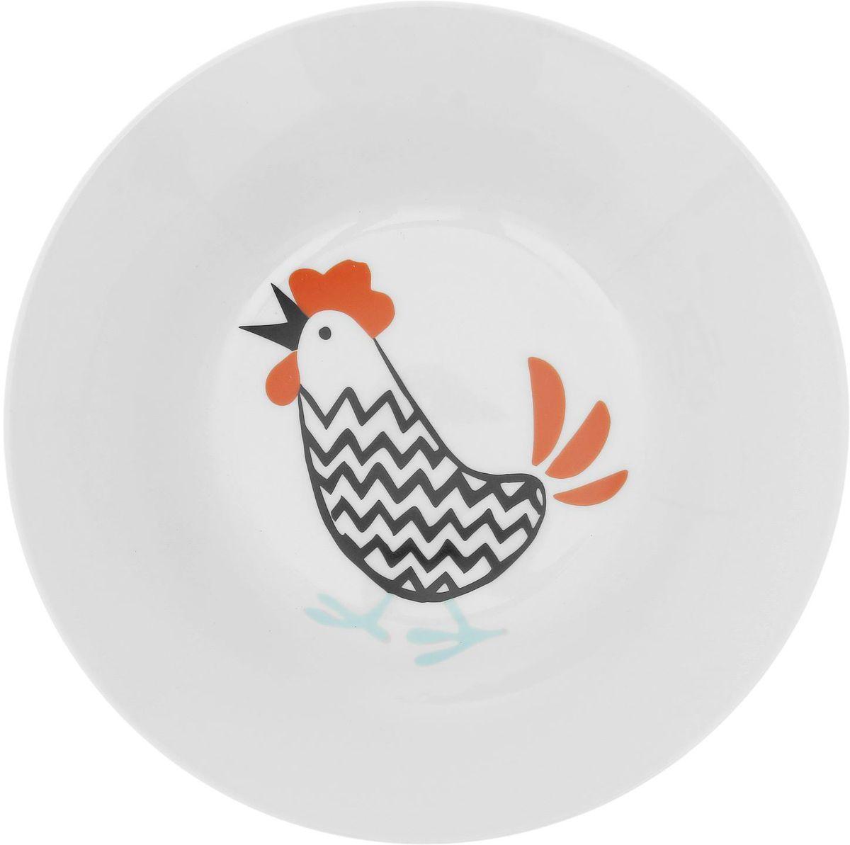 Тарелка глубокая Сотвори чудо Петя, диаметр 20 см тарелка глубокая сотвори чудо полярный мишка диаметр 20 см
