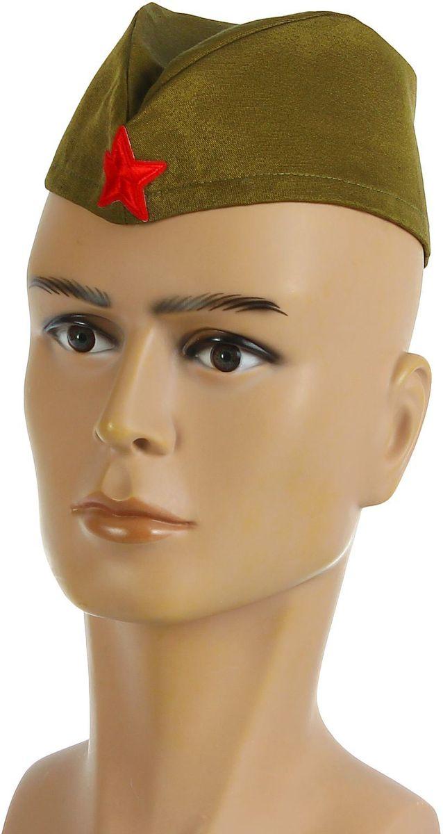 Пилотка Страна Карнавалия Солдат, размер 56-58 см1876286Военный костюм нельзя представить без форменного головного убора. Он превращает любого мужчину в статного офицера с идеальной выправкой.Пилотка Страна Карнавалия Солдат для взрослых станет изюминкой вашего образа, органичным его завершением. Она дополнит ваш наряд к 23 Февраля, Дню Победы - любому патриотичному празднику. Стилизованная пилотка отлично подойдёт для участия в театральных постановках, тематических представлениях, торжественных шествиях. Размер пилотки: 56- 58 см.