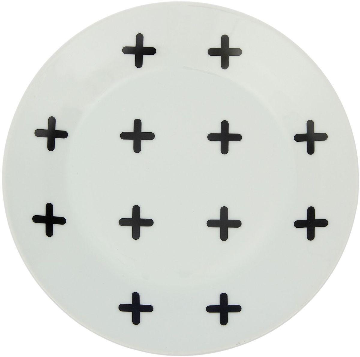 Тарелка мелкая Сотвори чудо My Little Cross, диаметр 20 см1971988Хотите обновить интерьер кухни или гостиной? Устраиваете необычную фотосессию или тематический праздник? А может, просто ищете подарок для близкого человека? Посуда Сотвори Чудо — правильный выбор в любой ситуации. Тарелка Сотвори Чудо, изготовленная из изящного фаянса нежного сливочного цвета, оформлена оригинальным рисунком со стойкой краской. Пригодна для посудомоечной машины.