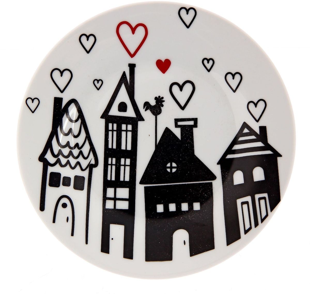 Тарелка мелкая Сотвори чудо Город любви, диаметр 15,5 см2277855Хотите обновить интерьер кухни или гостиной? Устраиваете необычную фотосессию или тематический праздник? А может, просто ищете подарок для близкого человека? Посуда Сотвори Чудо — правильный выбор в любой ситуации. Тарелка Сотвори Чудо, изготовленная из изящного фаянса нежного сливочного цвета, оформлена оригинальным рисунком со стойкой краской. Пригодна для посудомоечной машины.