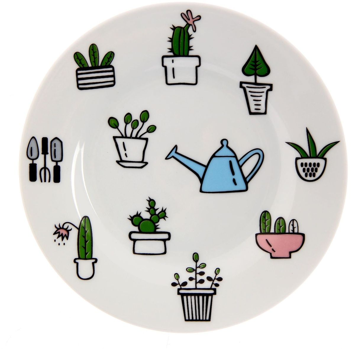 Тарелка мелкая Сотвори чудо Домашний сад, диаметр 15,5 см тарелка мелкая сотвори чудо полярный мишка диаметр 20 см