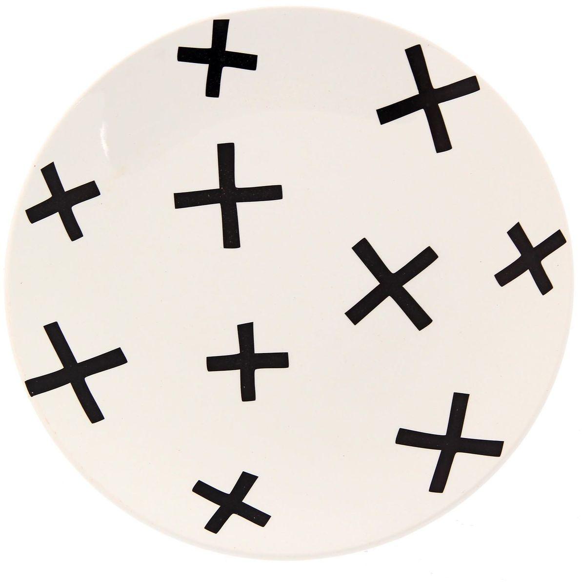 Тарелка Сотвори чудо My Little Cross, диаметр 22 см2277882Хотите обновить интерьер кухни или гостиной? Устраиваете необычную фотосессию или тематический праздник? А может, просто ищете подарок для близкого человека? Посуда Сотвори Чудо — правильный выбор в любой ситуации. Тарелка Сотвори Чудо, изготовленная из изящного фаянса нежного сливочного цвета, оформлена оригинальным рисунком со стойкой краской. Пригодна для посудомоечной машины.