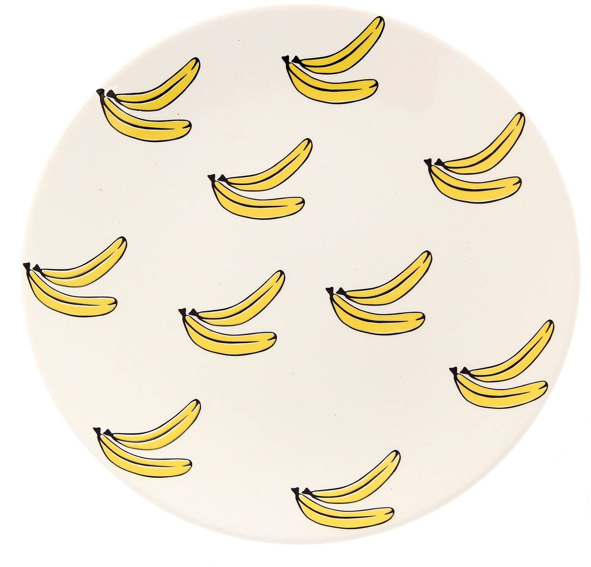 Тарелка Сотвори чудо Бананы, диаметр 22 см2277885Хотите обновить интерьер кухни или гостиной? Устраиваете необычную фотосессию или тематический праздник? А может, просто ищете подарок для близкого человека? Посуда Сотвори Чудо — правильный выбор в любой ситуации. Тарелка Сотвори Чудо, изготовленная из изящного фаянса нежного сливочного цвета, оформлена оригинальным рисунком со стойкой краской. Пригодна для посудомоечной машины.