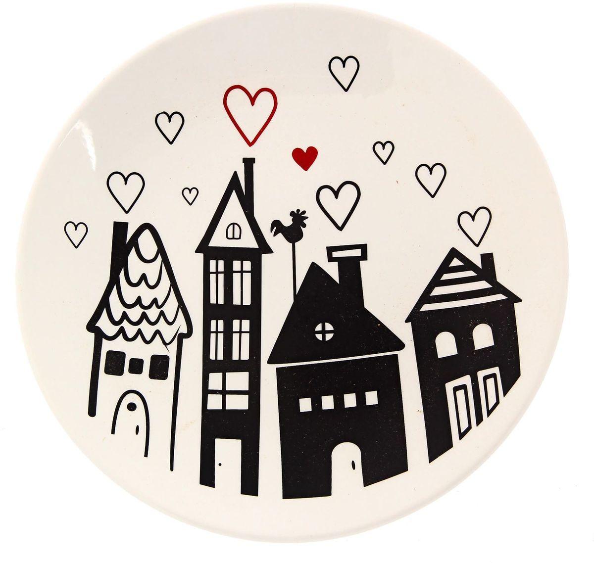 Тарелка Сотвори чудо Город любви, диаметр 22 см тарелка глубокая сотвори чудо полярный мишка диаметр 20 см